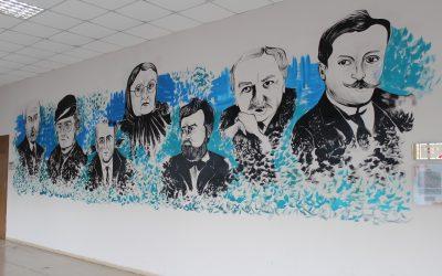 Türk Dili ve Edebiyatı Bölümü Koridoru Görsel İçerikle Zenginleştirildi
